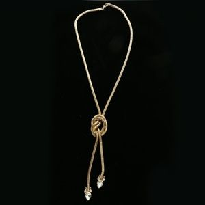Luxury Crystal Y-Necklace Gold NWOT